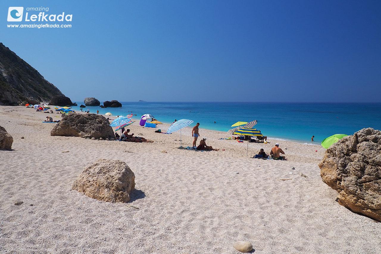 Megali Petra beach, Lefkada island