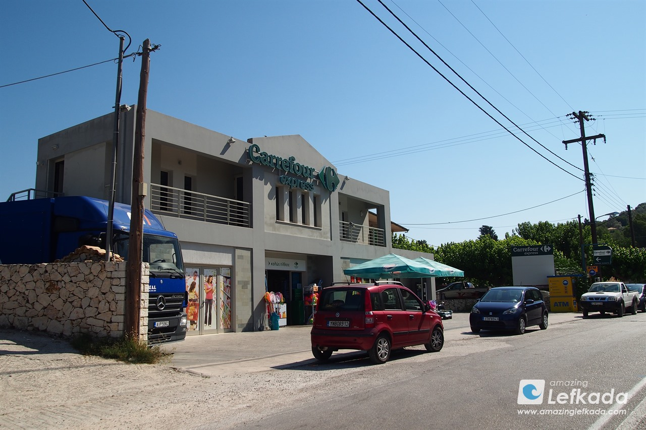 Carrefour in Lefkada island