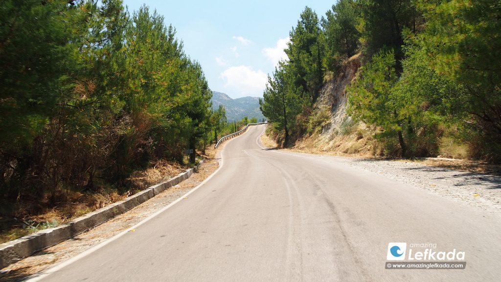 Driving in Lefkada