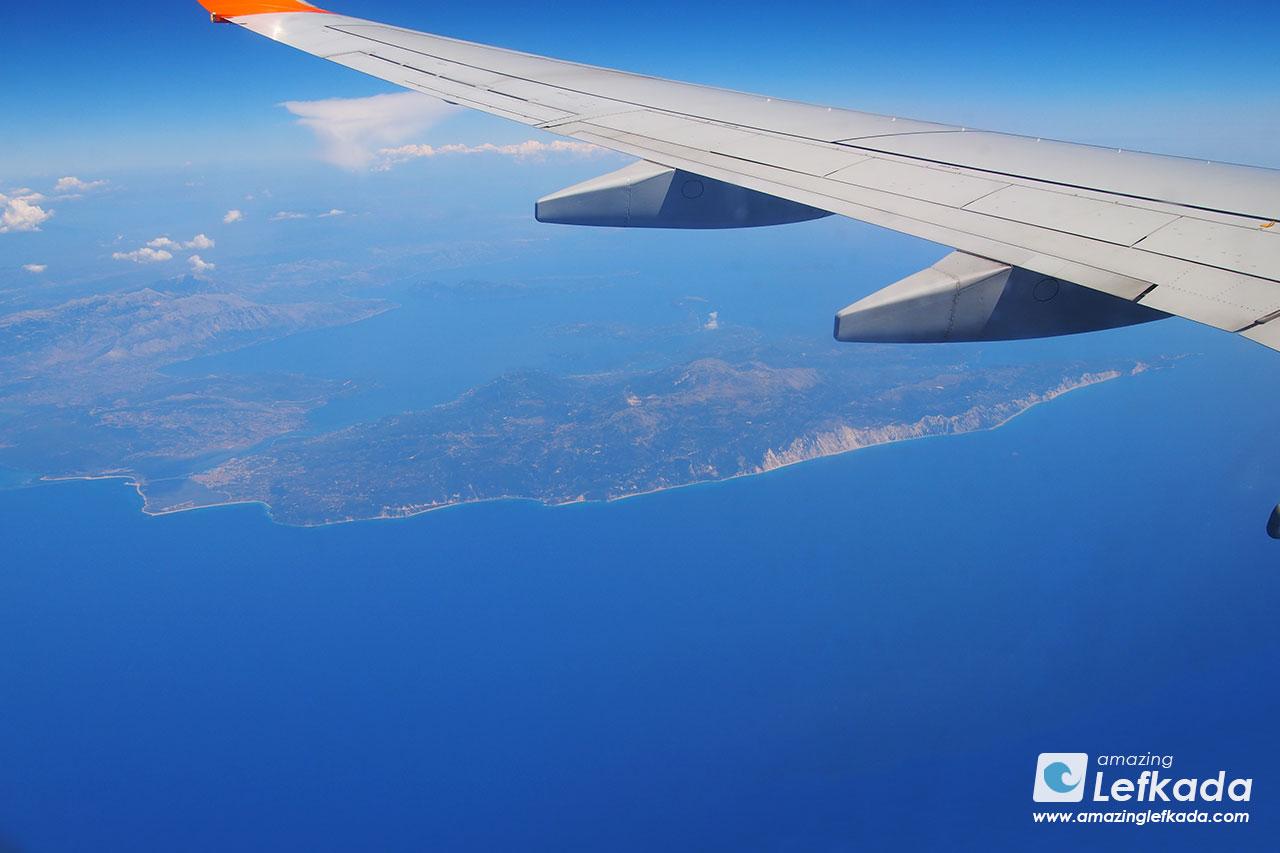 Fly to Lefkada island