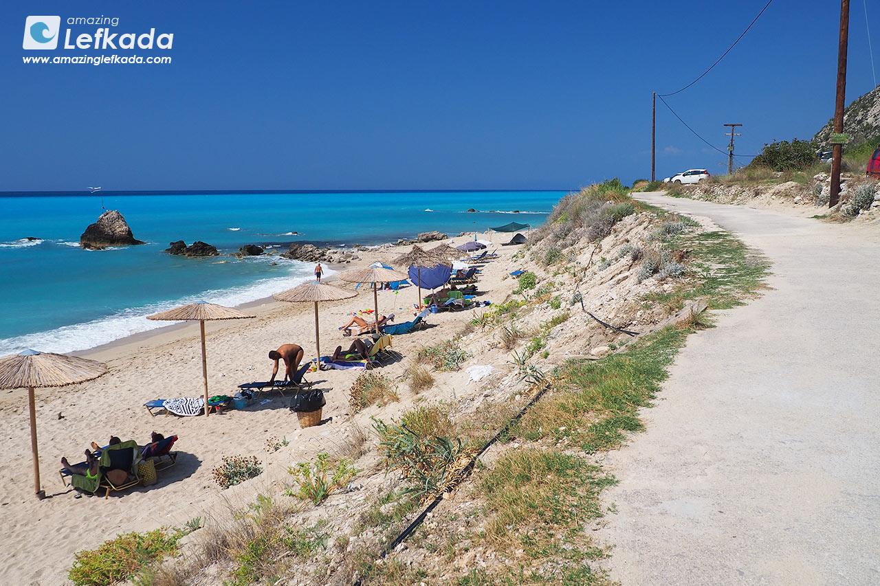 Gaidaros beach, nudist beach in Lefkada