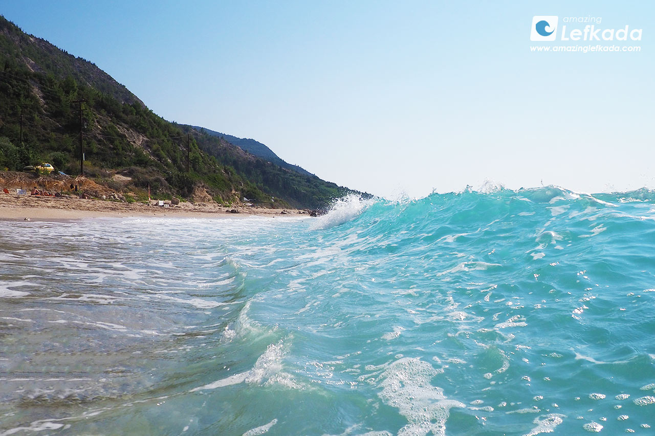 Lefkada waves, Gaidaros beach