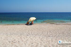 Gira beach, near Lefkada town