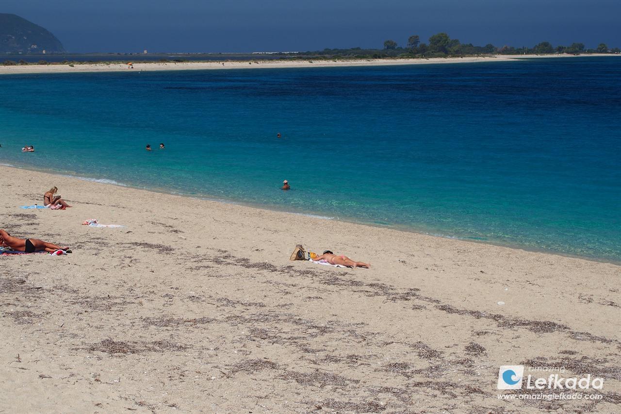 Kastro beach Lefkada town