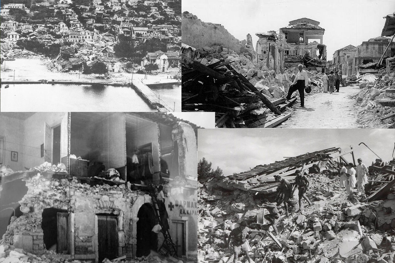 1953 Earthquake Kefalonia island