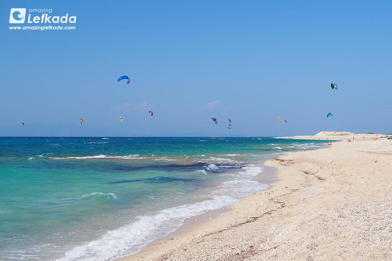 Kitesurf in Lefkada, Agios Ioannis beach