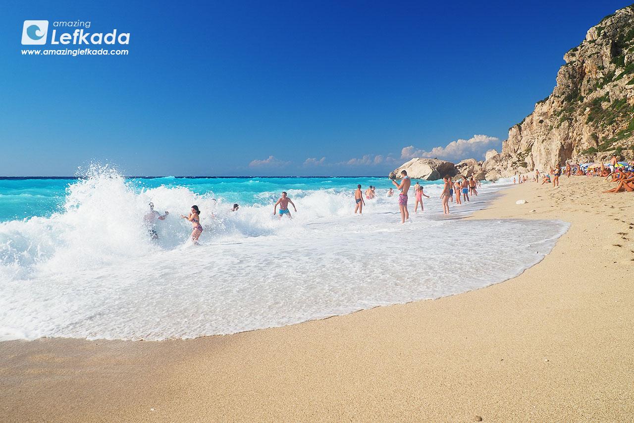 Lefkada big waves