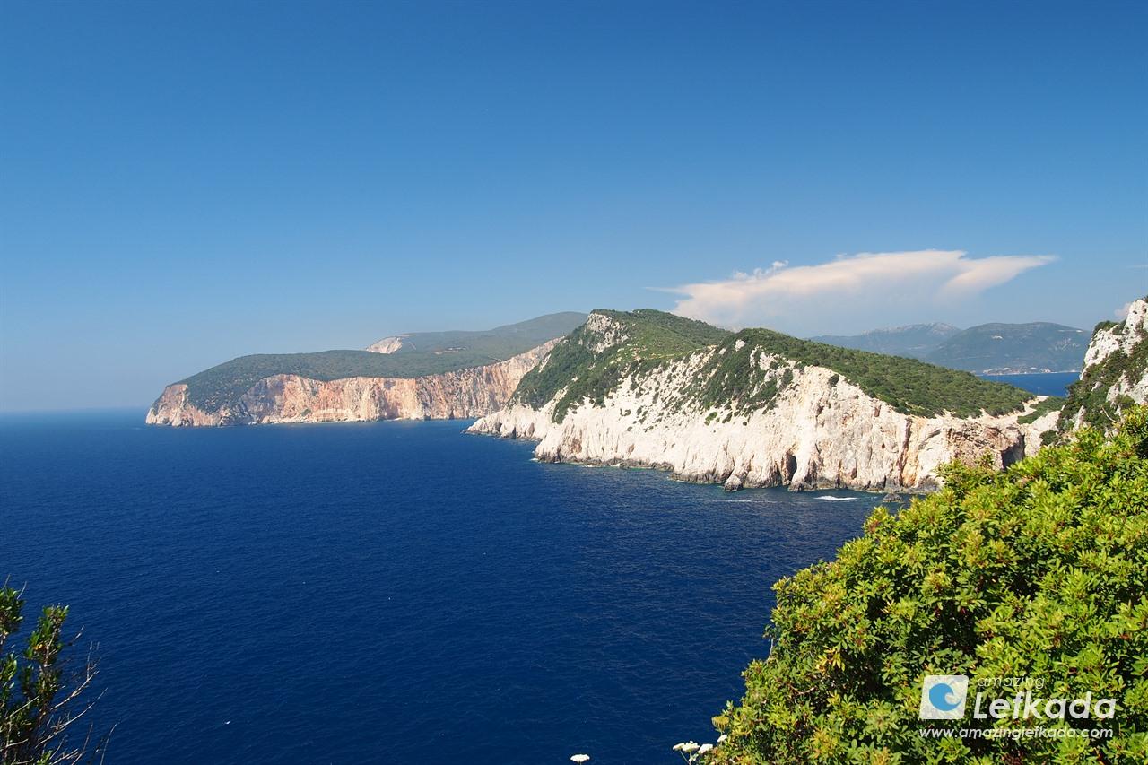 Southern cliffs of Lefkada island