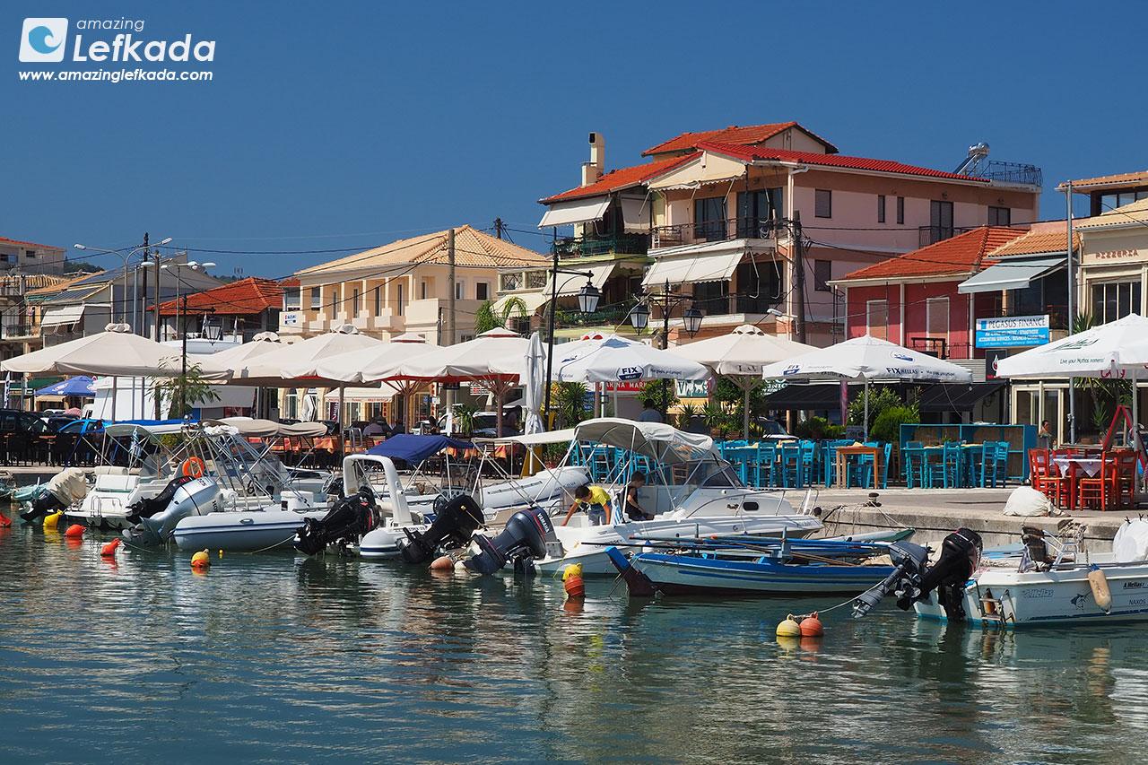 Port in Lefkada town