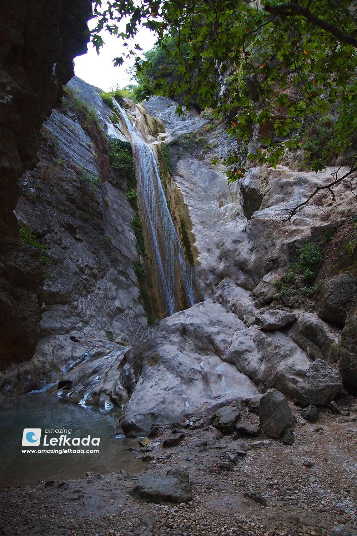 Waterfalls in Lefkada, Dimosari