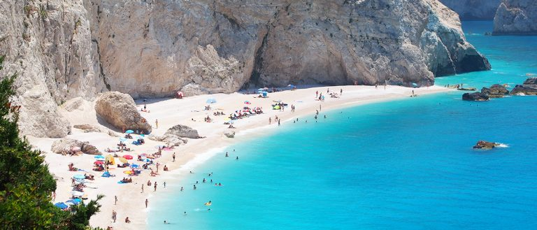 Lefkada west coast beaches