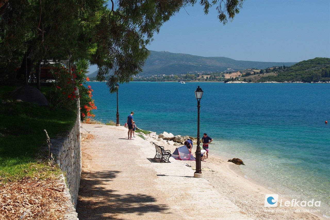 Lygia beach Lefkada island