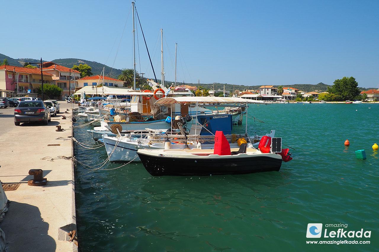 Ligia port, Lefkada