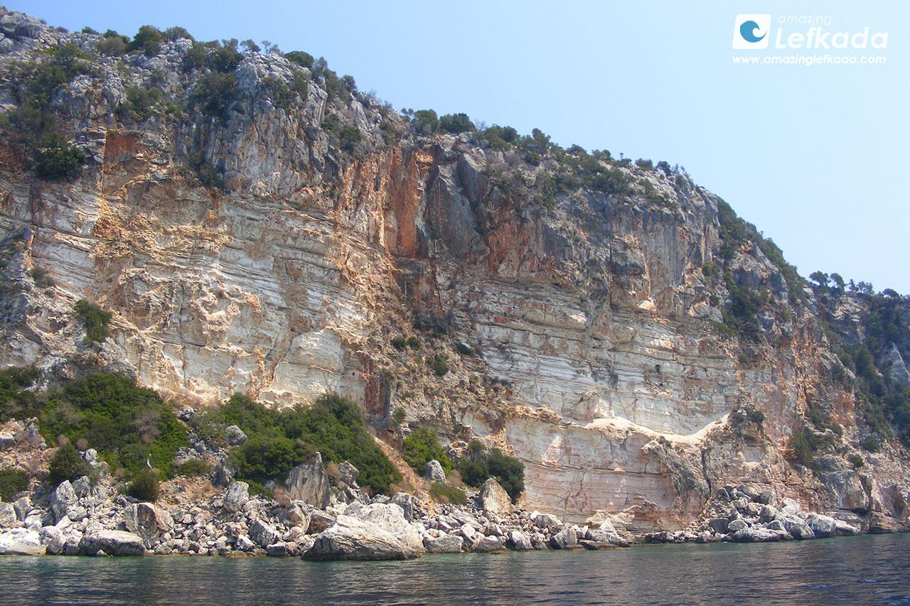 Meganisi southern coastline