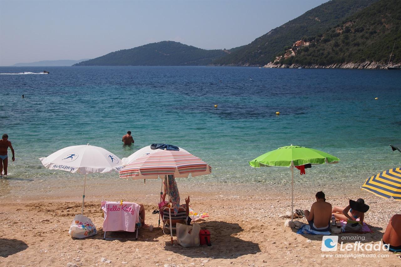 Mikros Gialos, or Poros beach, Lefkada island