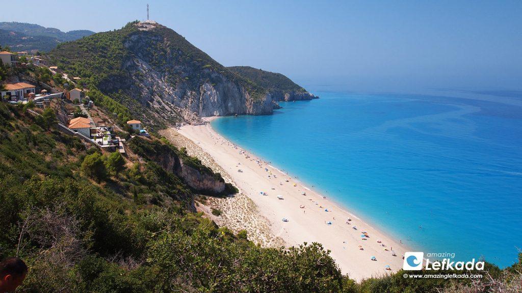 Mylos beach in Lefkada island