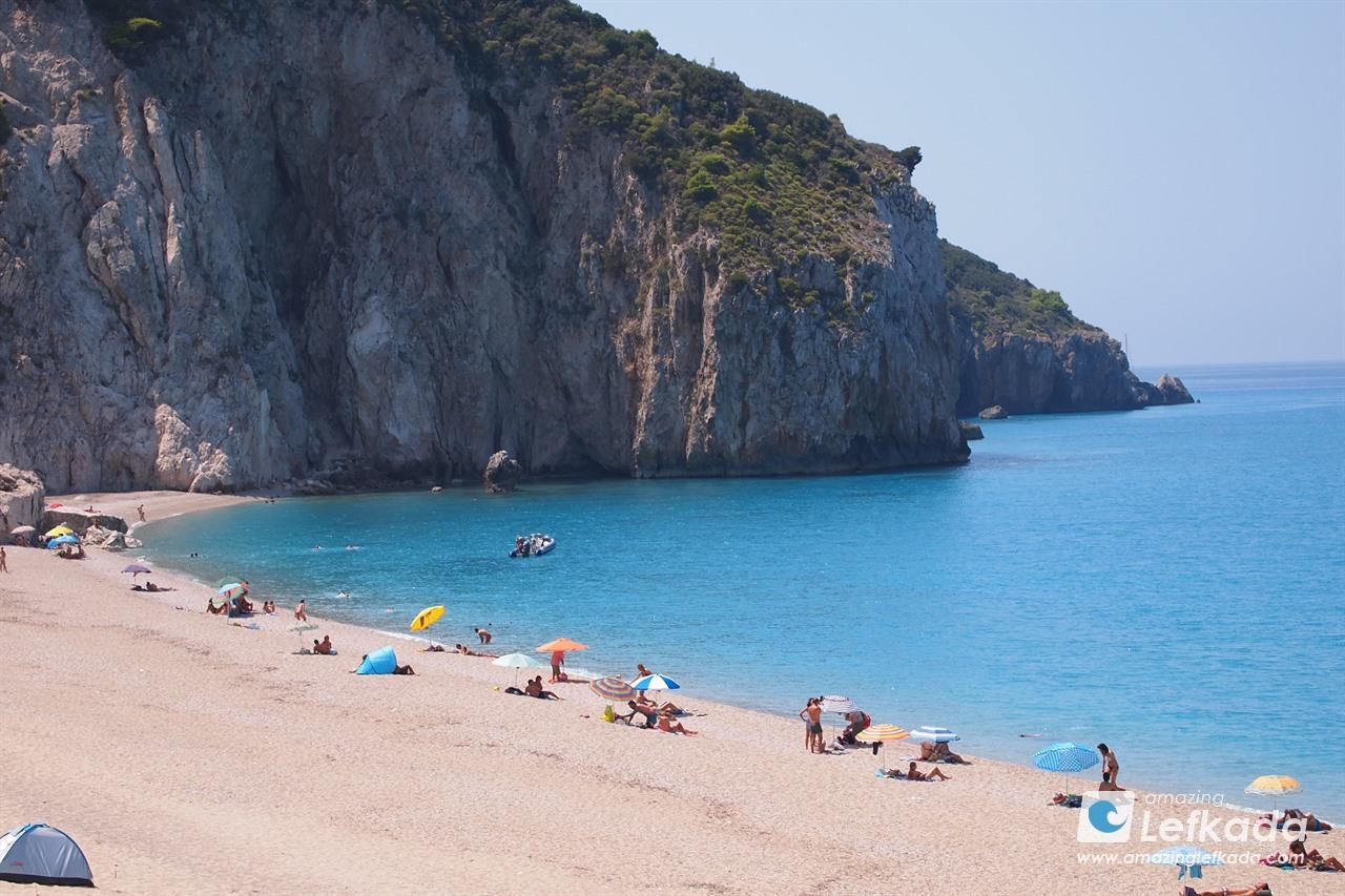 Cliffs of Mylos beach, Lefkas