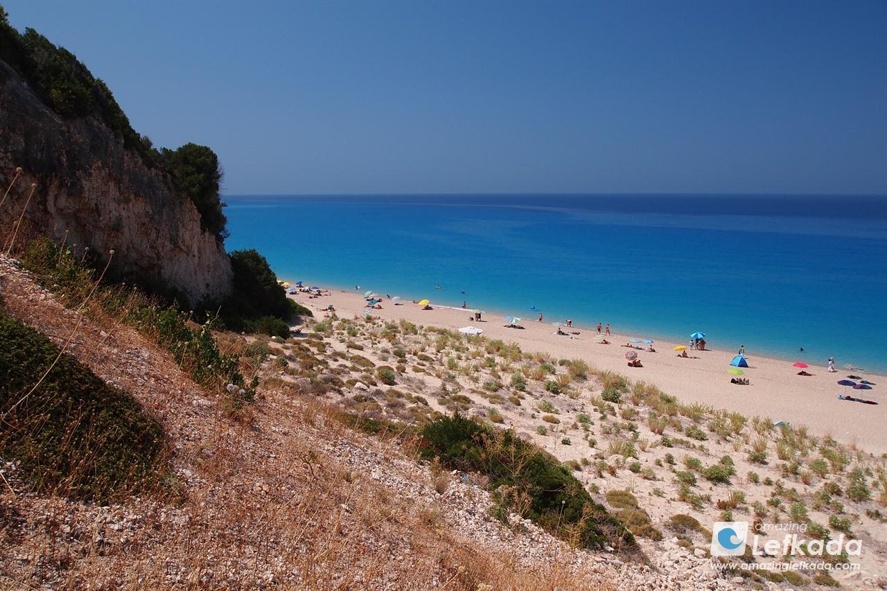 Scenery of Milos beach