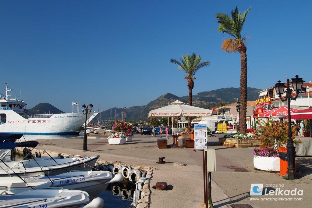 Nidri port for ferries