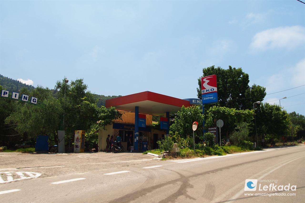 Petrol station near Agios Nikitas