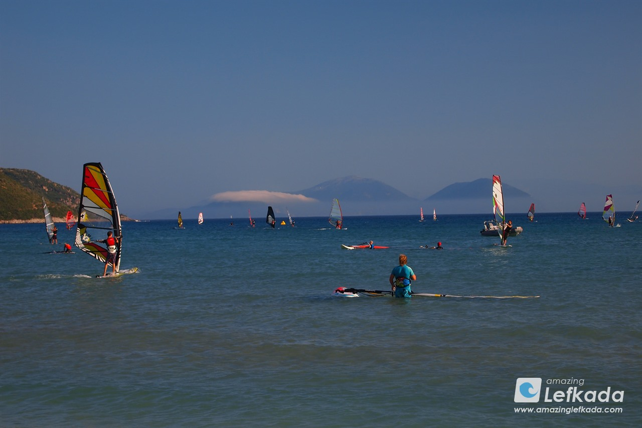 Windsurf at Ponti beach Lefkada