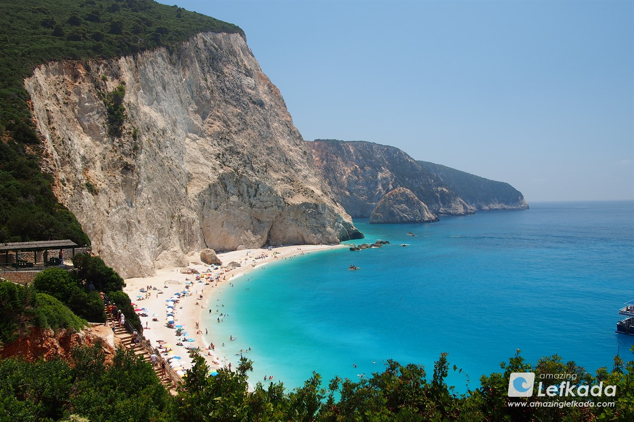 View to Porto Katsiki beach, Lefkada