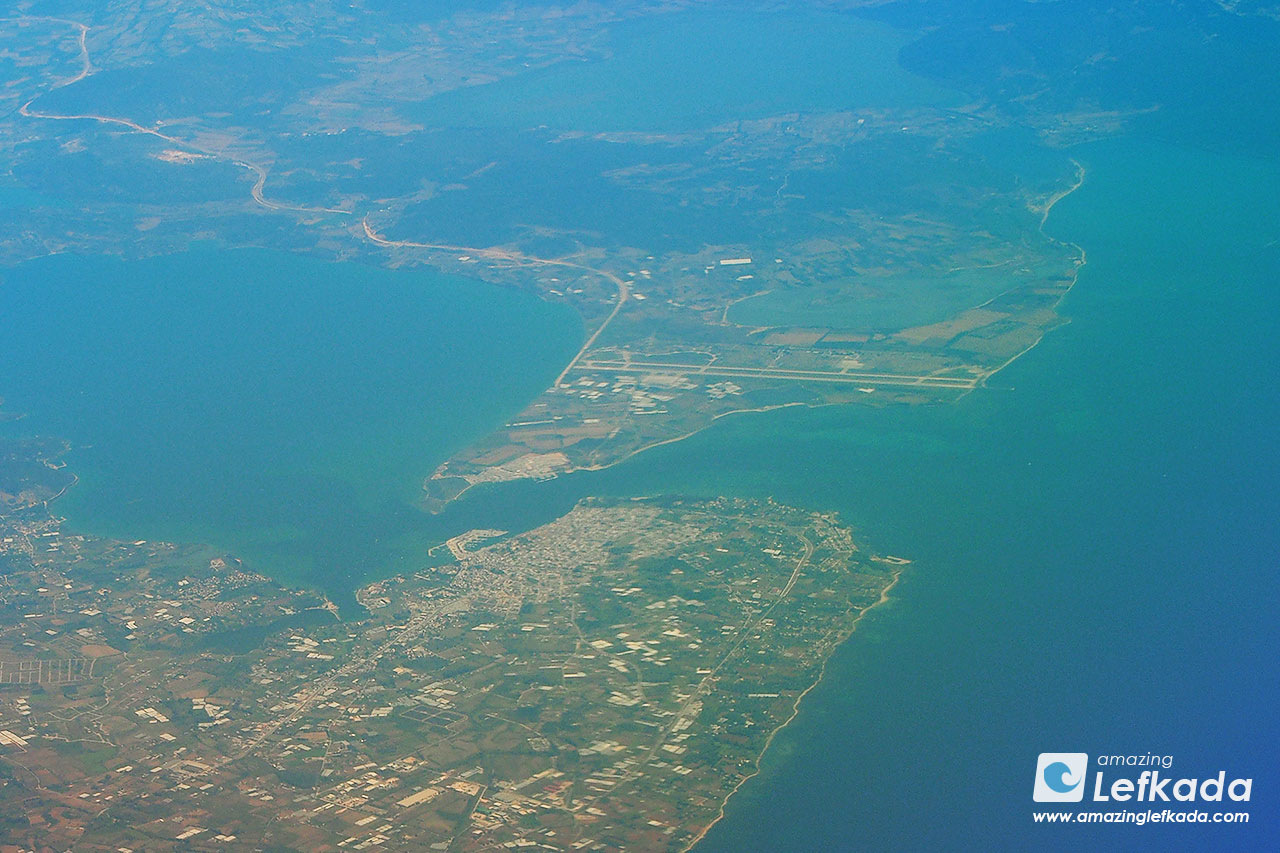 Preveza airport, next to Lefkada island