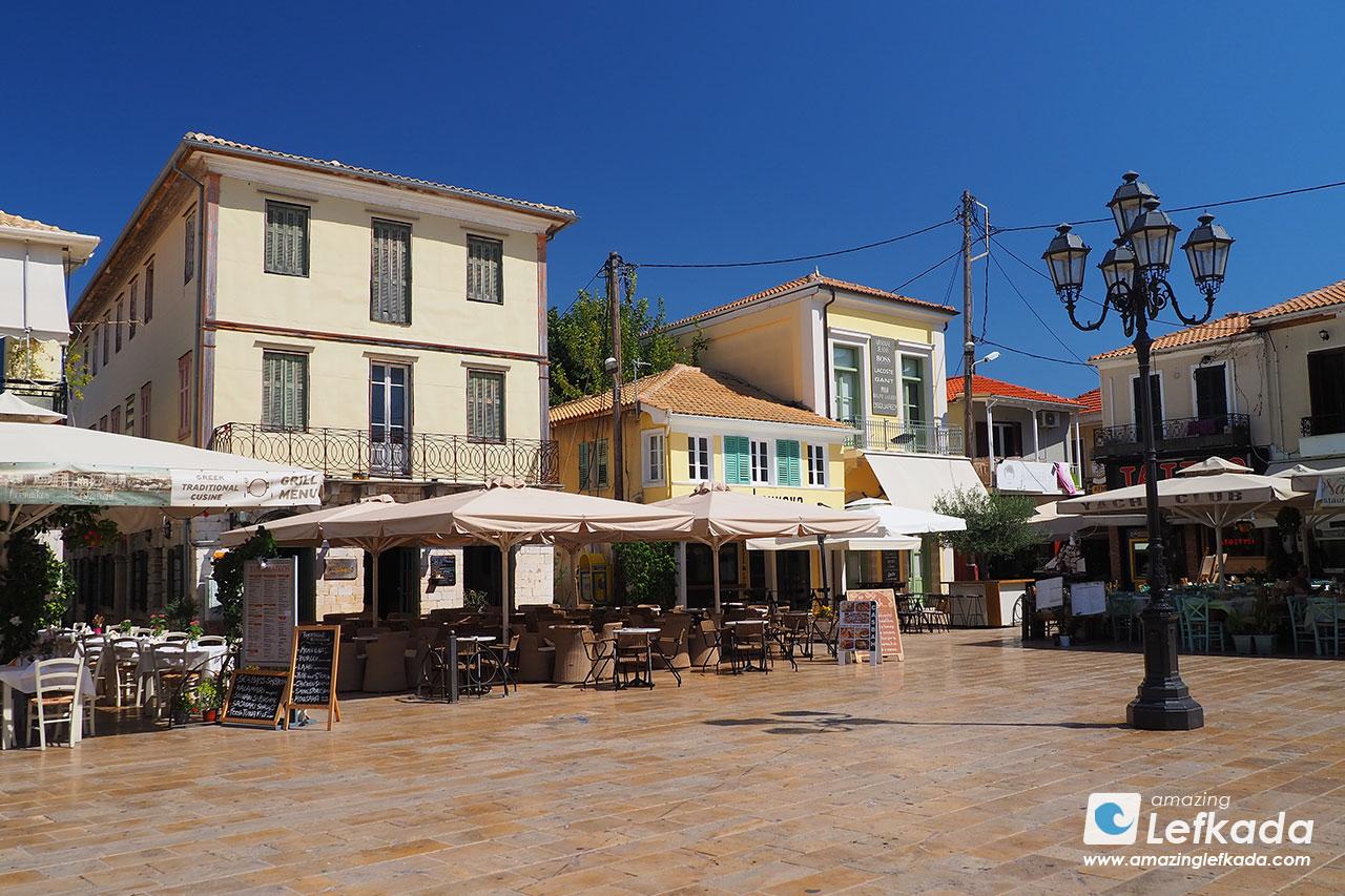 Lefkada town main square