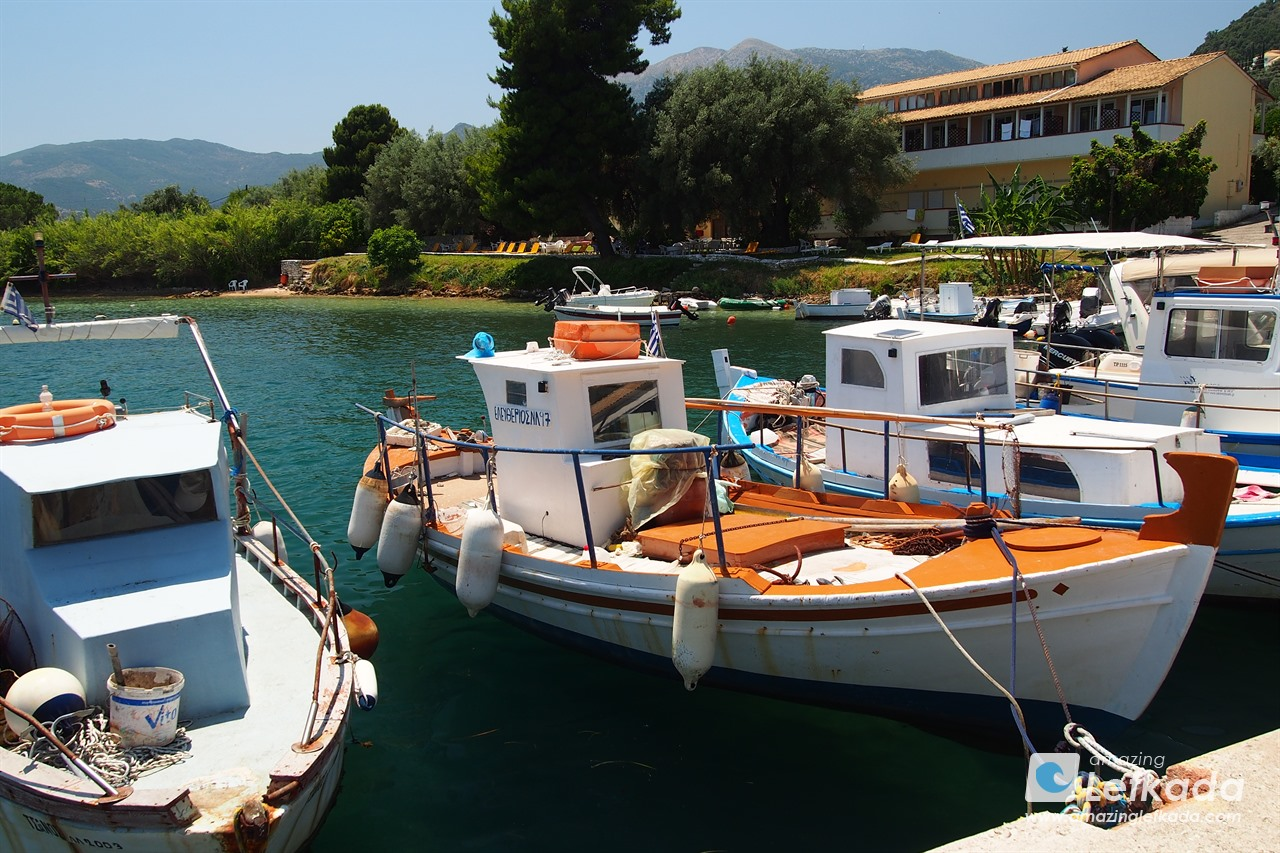 Port of Perigiali in Lefkada