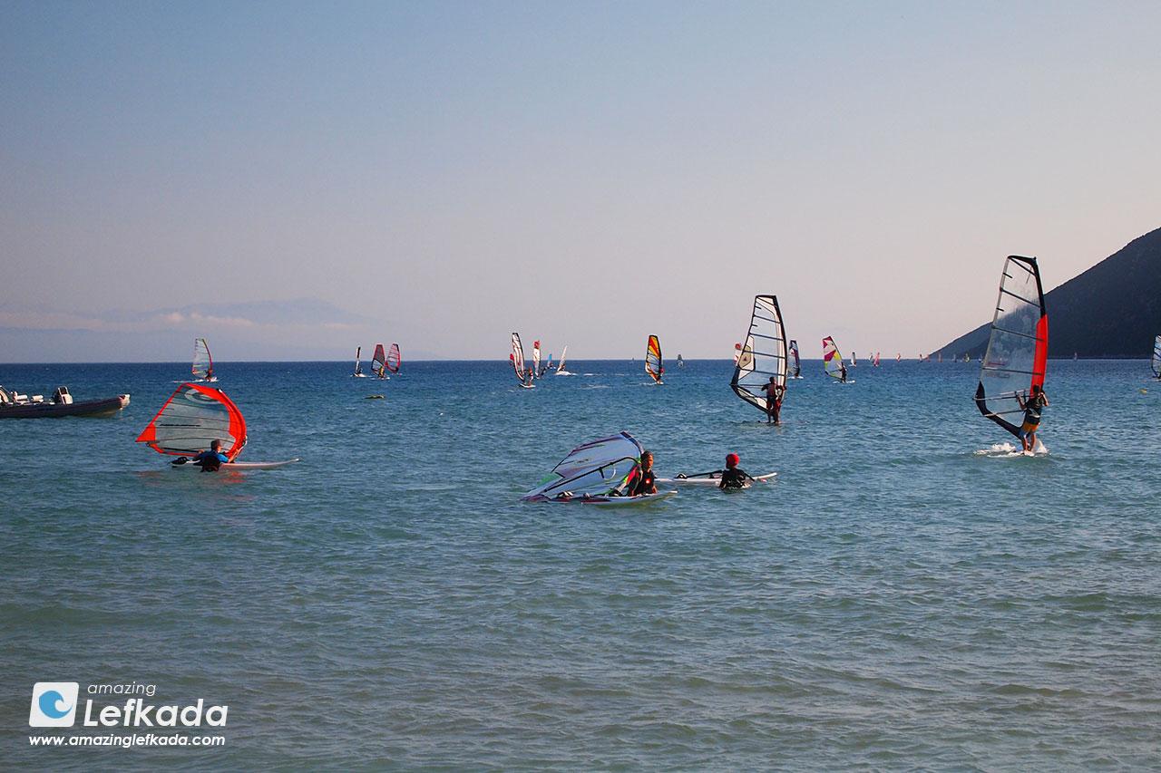 Vasiliki & Ponti windsurfing