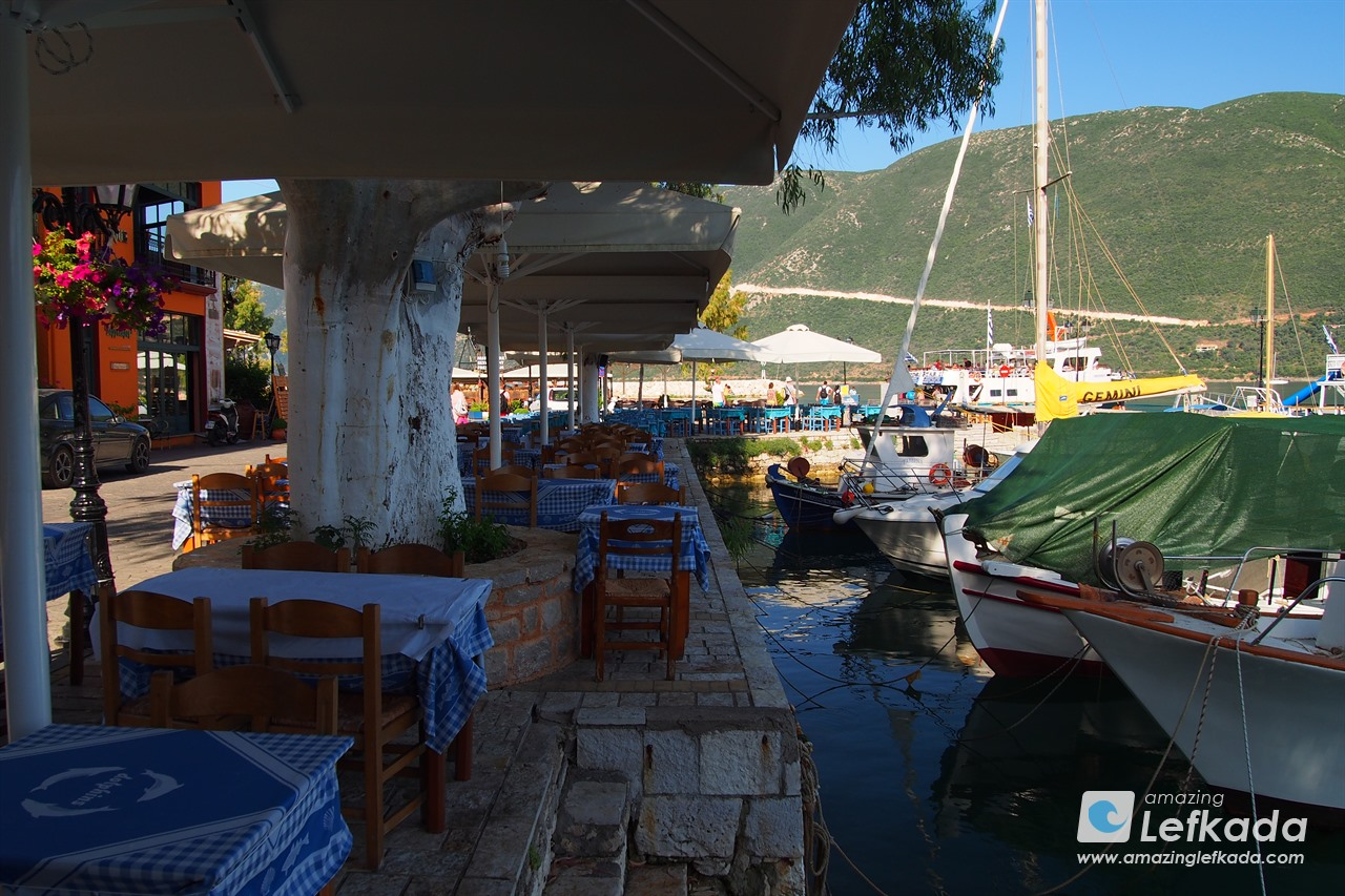 Taverns and restaurants in Vasiliki, Lefkada