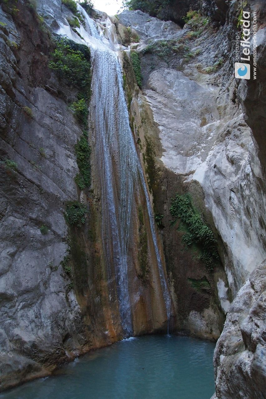 Waterfall in Lefkada